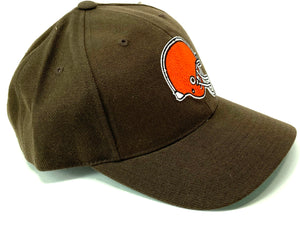 Cleveland Browns NFL 1990's Brown 20% Wool Logo Ball Cap (New) by American Needle