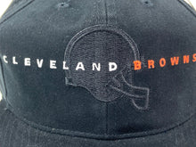 Load image into Gallery viewer, Cleveland Browns Vintage NFL Black Cotton Snapback (New) By American Needle