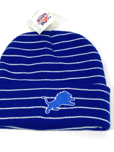 Detroit Lions Vintage NFL Cuffed Knit Logo Hat (New) By Drew Pearson Marketing