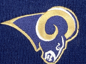 St. Louis Rams Vintage NFL Cuffed Knit Logo Hat (New) By Rossmor Industries