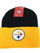 Load image into Gallery viewer, Pittsburgh Steelers Vintage NFL Cuffed Knit Logo Hat (New) By Reebok