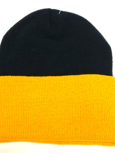 Pittsburgh Steelers Vintage NFL Cuffed Knit Logo Hat (New) By Reebok