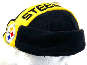 "Pittsburgh Steelers NFL Fleece ""Jughead"" Style Beanie By Drew Pearson Marketing"