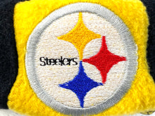 "Load image into Gallery viewer, Pittsburgh Steelers NFL Fleece ""Jughead"" Style Beanie By Drew Pearson Marketing"
