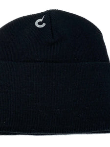 St. Louis Rams Vintage NFL Black Cuffed Logo Knit Hat (New) By Rossmor Industries
