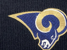 Load image into Gallery viewer, St. Louis Rams Vintage NFL Black Cuffed Logo Knit Hat (New) By Rossmor Industries