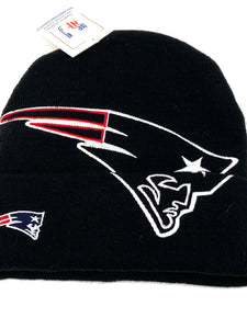 New England Patriots Vintage NFL Late '90's Oversize Logo Knit Hat By NFL