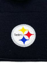 Load image into Gallery viewer, Pittsburgh Steelers Vintage NFL Black Knit Cuffed Hat (New) By Logo Athletic