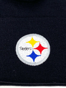Pittsburgh Steelers Vintage NFL Black Knit Cuffed Hat (New) By Logo Athletic