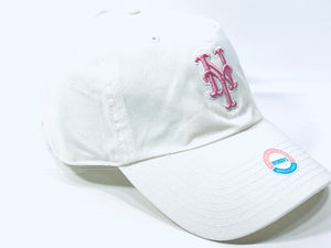 New York Mets Vintage MLB Women's Pink Logo Cap (New) By Twins Enterprise
