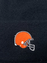 Load image into Gallery viewer, Cleveland Browns Vintage NFL Black Cuffed Knit Logo Hat (New) By 4Point0