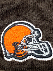 Cleveland Browns Vintage NFL Brown Cuffed Knit Logo Hat (New) By NFL
