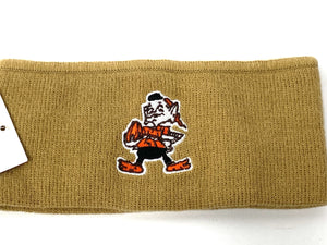 Cleveland Browns Vintage NFL Tan Elf Headband (New) By Rossmor Industries