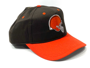 Cleveland Browns Vintage NFL Team Color Replica Snapback (New) By Drew Pearson Marketing