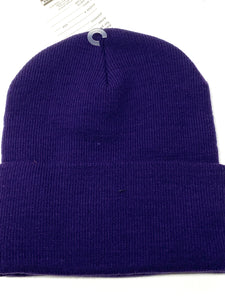 Baltimore Ravens Vintage NFL Purple Cuffed Logo Knit Hat (New) By Rossmor Industries