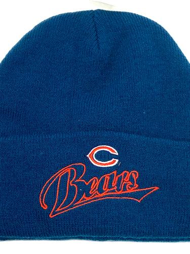 Chicago Bears Vintage NFL Cuffed Knit Logo Hat (New) By Drew Pearson Marketing