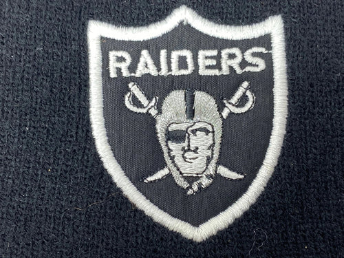 Oakland Raiders Vintage NFL Team Color Logo Knit Headband (New) By Rossmor Industries