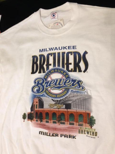 Milwaukee Brewers Vintage MLB Miller Park 2001 Sweatshirt (New) by Delta/Ultra Fleece
