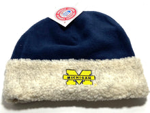 Load image into Gallery viewer, University of Michigan Wolverines Vintage NCAA Cuffed Fleece Hat (New) By Drew Pearson Marketing