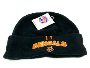 Cincinnati Bengals Vintage NFL Youth Cuffed Fleece Hat (New) By Drew Pearson Marketing