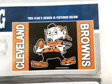 "Load image into Gallery viewer, Cleveland Browns Vintage NFL 3'x5' ""Brownie"" Flag (New) By Fremont Die"