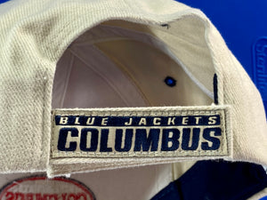 "Columbus Blue Jackets Vintage Structured ""Stache""  Cap (New) By Twins Enterprise"