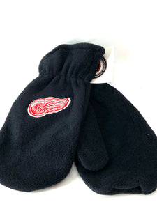 Detroit Red Wings Vintage NHL Adult Fleece Mittens (New) By Drew Pearson Marketing