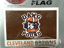 Load image into Gallery viewer, Cleveland Browns Vintage 1999 NFL 3'x5' Dawg Pound Flag (New) By Emerson
