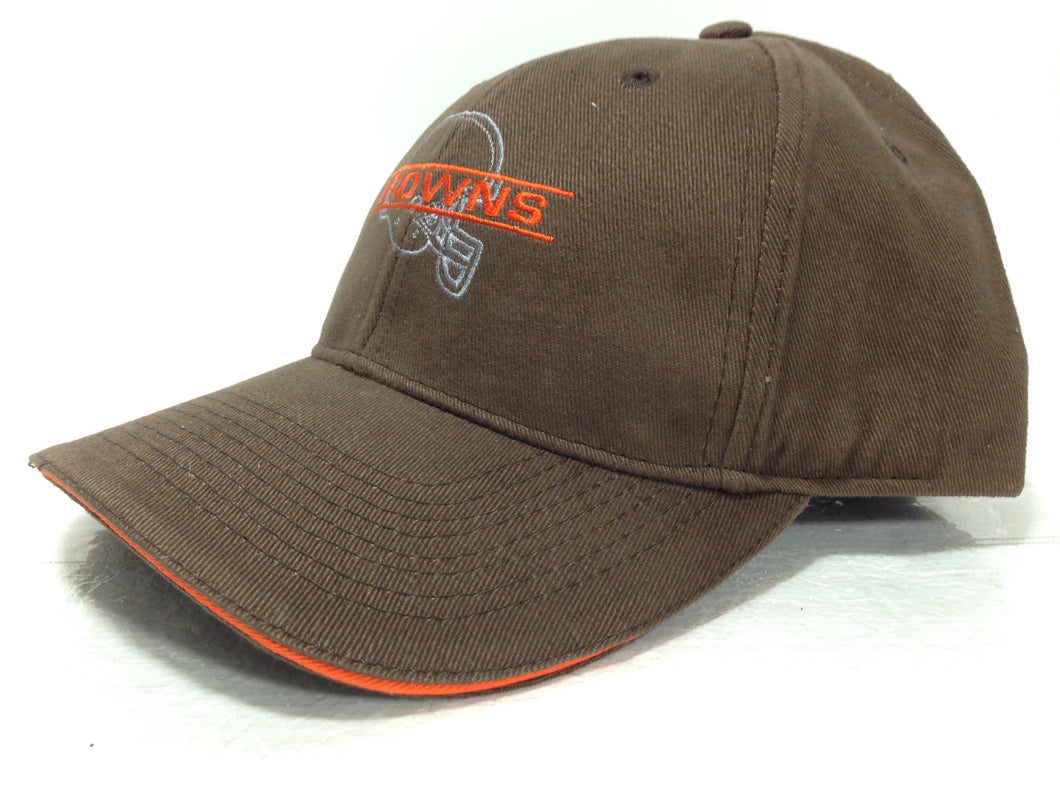 Cleveland Browns Vintage NFL Brown Silhouette Cap (New) By Drew Pearson Marketing