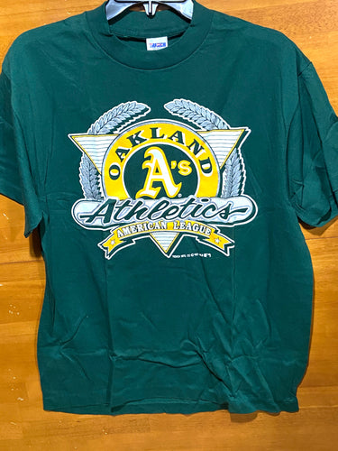 Oakland Athletics 1991 MLB Team Color Logo Tee (New) by Trench