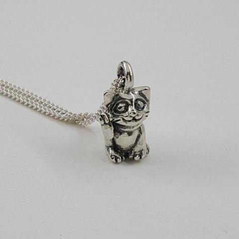 Lucky Cat Necklace - Xanne Fran Studios