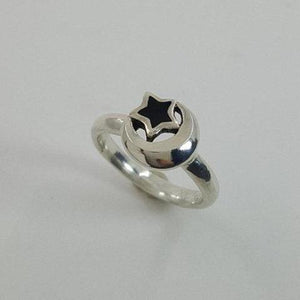 Moon and Star Ring - Xanne Fran Studios