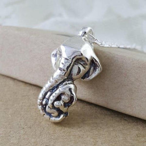 Mom and Baby Elephant Necklace - Xanne Fran Studios