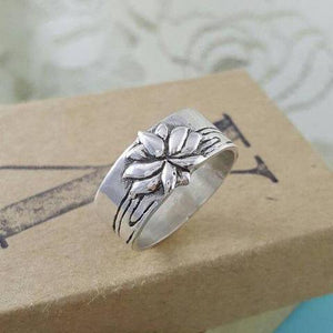 Lotus Flower Ring - Xanne Fran Studios