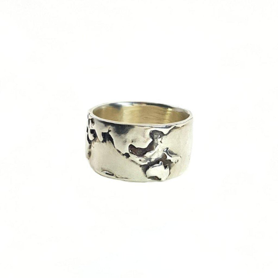 World Map Ring - Xanne Fran Studios