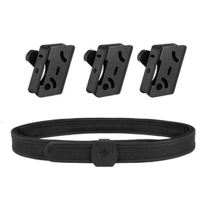 IPSC Aluminum Magazine Pouch Multi Angle Adjustment & IPSC Tactical Belt Combine Set