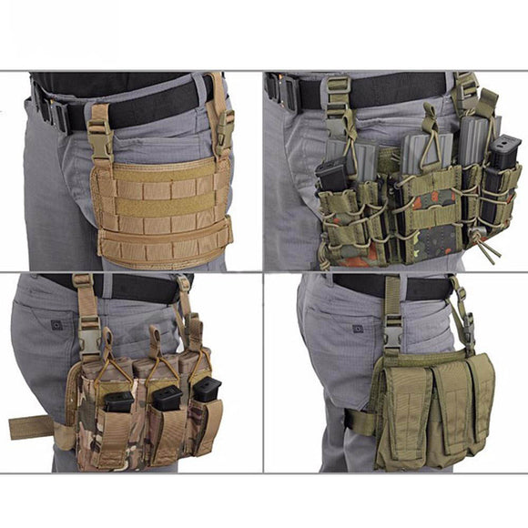 EMERSON Modular Rife Leg Panel Pouch Tactical Molle Drop Leg Pouch Pistol Holster Tools Molle
