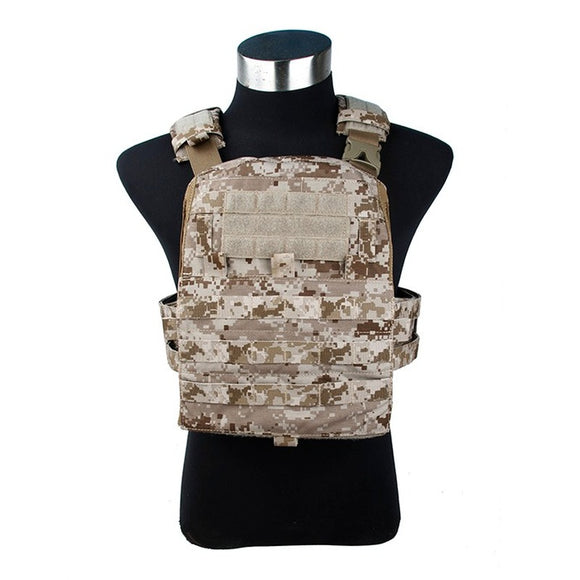 TMC Adaptive Vest 19 Ver Zipper Panel  AOR1 Tactical Vest Military Molle Combat Gear