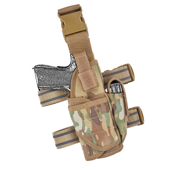 TB-FMA Drop Leg Holster Tactical Thigh Holster Adjustable for Universal Gun Holster