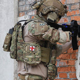 Tactical MOLLE EMT Pouch Rip-Away Medical First Aid IFAK Utility Pouch