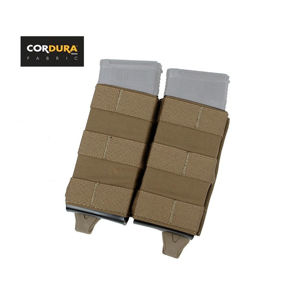 FMA 5.56 Hardshell Insert Double Magazine Pouch Molle Clip Mag Pouch Coyote Brown