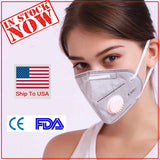 KN95 Face Mask Mouth Masks For Adult Anti Dust Pollution Filter PM2.5 Protective Hygiene Respirator With Valve