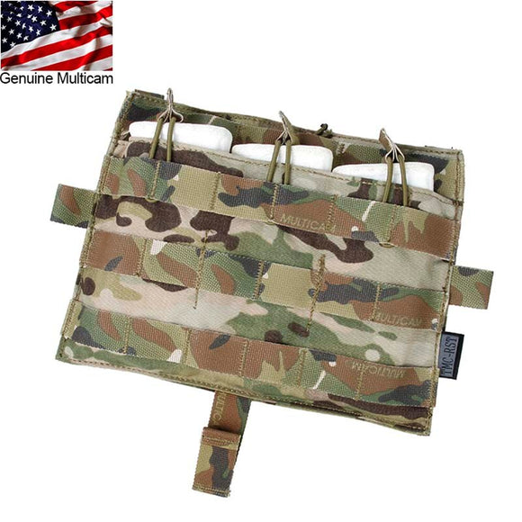 TMC Molle M4 TRIPLE MAG Pouch Bag Multicam Magazine Pouch for Tactical AVS JPC2.0 Vest Front Panel