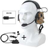 EARMOR M32 MOD3 Tactical Headset & M52 PTT One Set Fit for Military and Shooting Noise Canceling Headphones