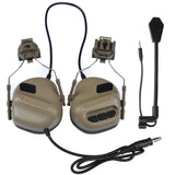 Tactical Headset with Fast Helmet Rail Adapter Peltor Comtac Headset Free Shipping