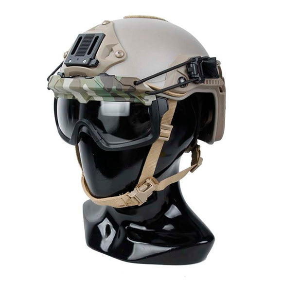 Tactical SF Helmet QD Anti Fog Goggles Wind Dust Protection Glasses for Helmet