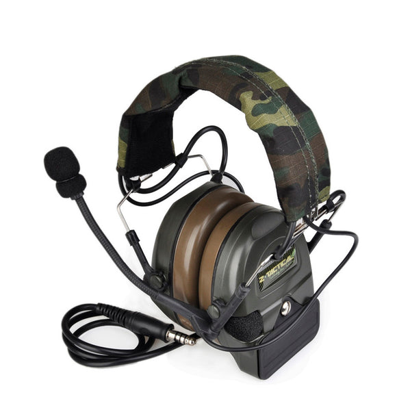 Z-tactical Sordin Tactical Headset Airsoft Comtac ZComtac Style Canceling Headphone Ptt