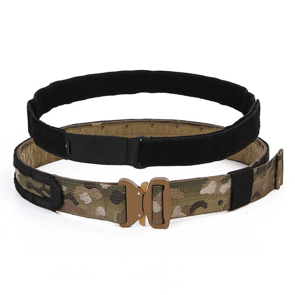FMA Tactical Belt Multicam Cobra1.75-2inch One-pcs Combat Belt Nylon IPSC Airsoft Tactical Support Free Shipping