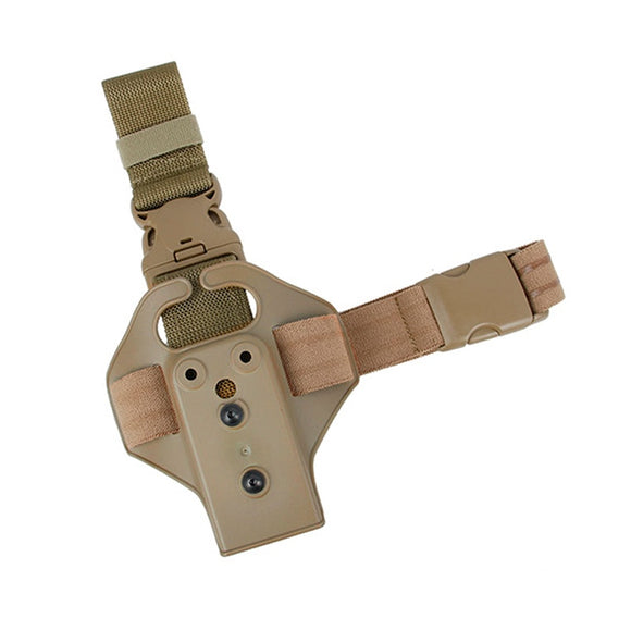 TMC Single Strap Tactical Pistol Holster Panel Safariland Drop Leg Thigh Holsters