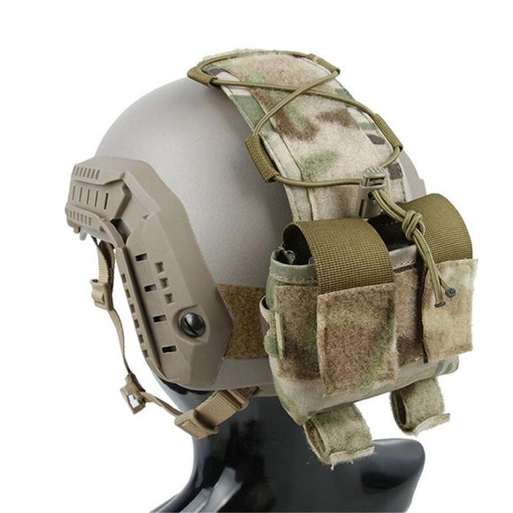 TMC Tactical Helmet Accessory Pouch Multicam Battery Pouch for Combat Helmet Accessory Storage